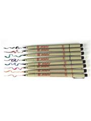 Sakura Pigma� Brush 8-Color Pack Micron Permanent Ink Pens