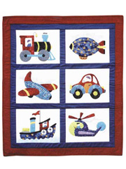 Boys Toys Quilt Pattern
