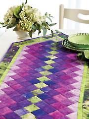 Colorwash Table Runner Pattern
