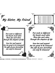 My Sister, My Friend Fabric Panel - Natural