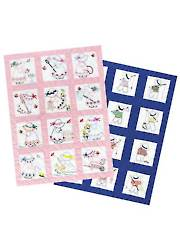 Girl or Boy Prestamped Nursery Quilt Blocks