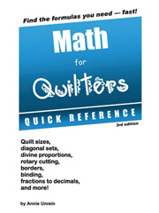 Math for Quilters Quick Reference Guide