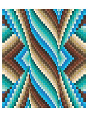 Spiral Burst Bargello Quilt Pattern