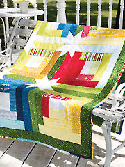 Log Cabin Hidden Stars Quilt Pattern