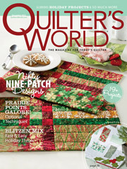 Quilter's World December 2012
