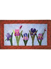 Irises for Grace Wall Hanging Pattern