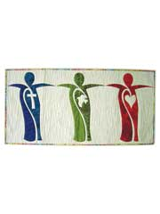 Faith, Hope, Love Wall Hanging Pattern