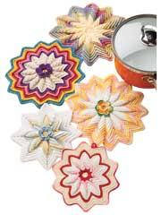 Scrap Potholders to Crochet Pattern Pack