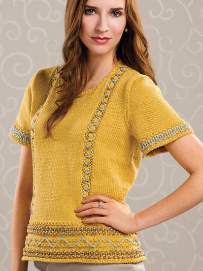 Design by Beth Whiteside, Creative Knitting Summer 2013