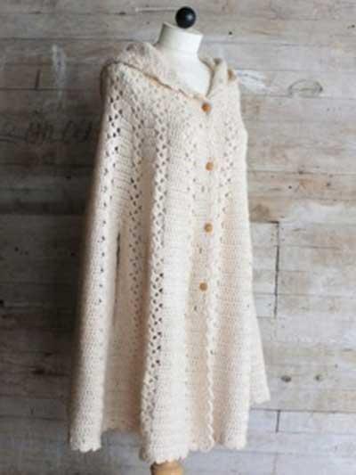 Long Hooded Cape Crochet Pattern