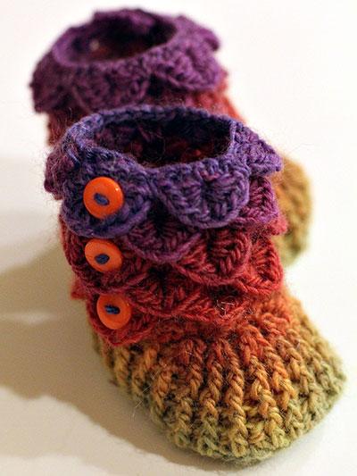 Crocodile Stitch Boots Crochet Pattern