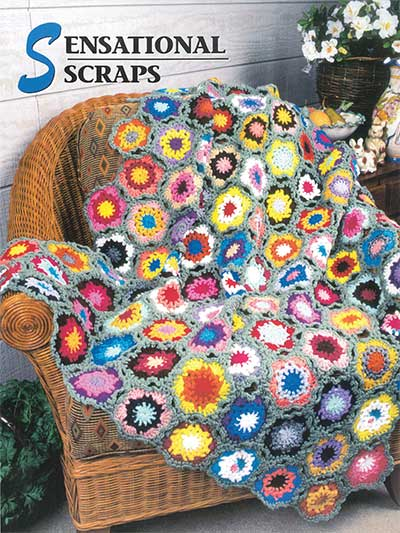 Afghan Collection Scrap Afghan to Crochet Pattern