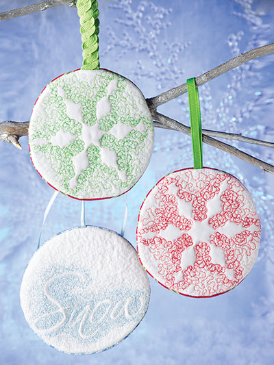 Easy to sew snowflake ornament patterns