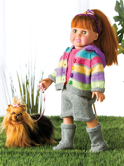 Sassy  Outfit Patterns for 18-in Dolls - KNIT
