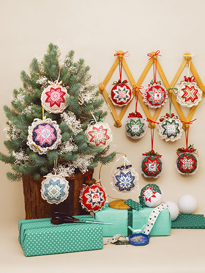 - Easy Cross Stitch Folded Star Ornaments