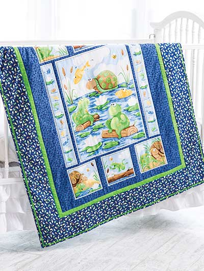 Quick Easy Baby Kids Quilts Art Panel Quilt Pattern