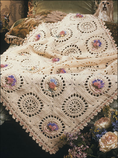 Afghan Bouquets crochet afghan patterns