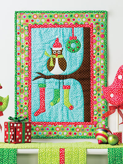 Christmas All Through the House wall hanging quilts