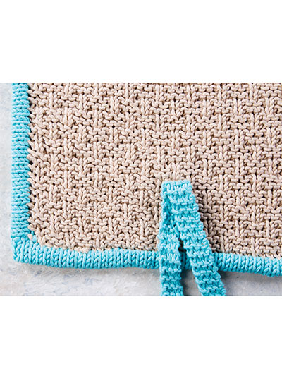 Adding straps to the Yoga beach mat knitting pattern