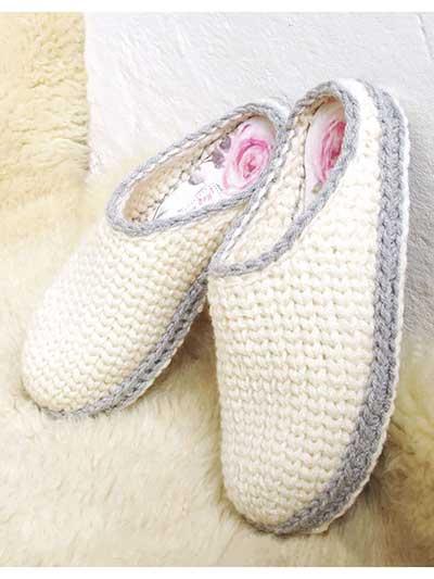 Basic Clog Slippers Crochet Pattern