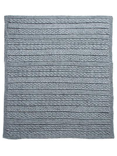 Annies Signature Designs Gansey Afghan Knit Pattern