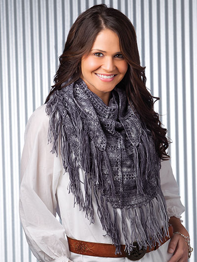 Crochet! Winter 2015 fringe infinity scarf cowl pattern
