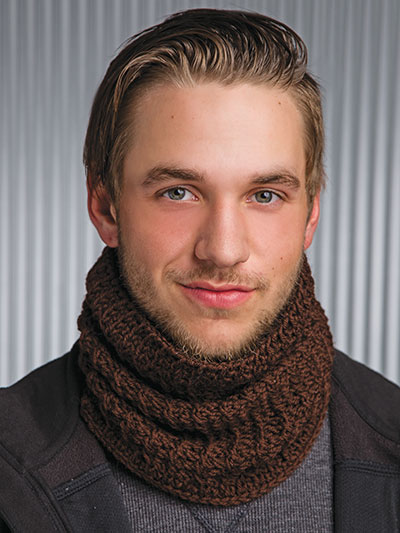 Crochet! Winter 2015 men's cowl crochet pattern