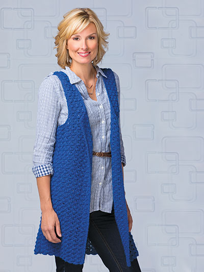 Crochet! Winter 2015 long vest for women crochet pattern