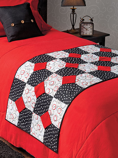 Quick and easy quilting pattern red white black quilt