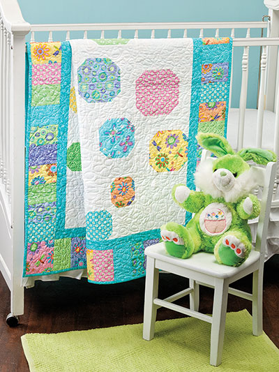 Quick and easy quilting patterns baby quilt in pastel colors