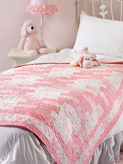 Quick and easy quilting patterns something pink and white quilt pattern