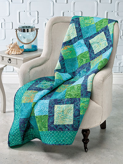 Quick and easy quilting patterns something blue and green quilt pattern