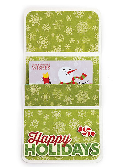 Make Holiday Gift Card Holders