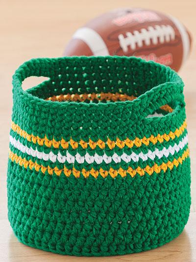 Crochet basket pattern with handles crochet pattern
