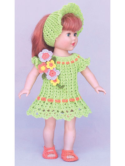 Simple SPRING &  SUMMER DRESSES for 18-Inch Dolls - CROCHET