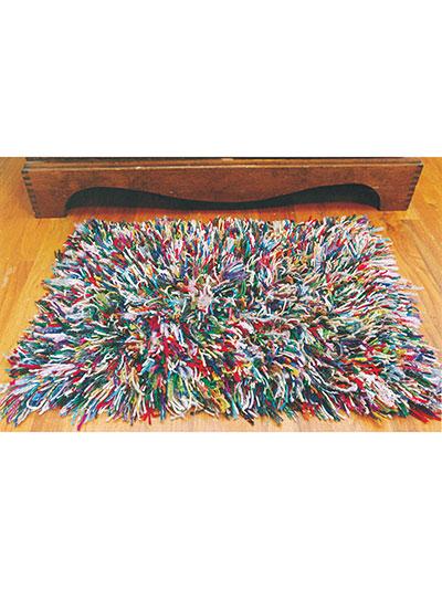 Crochet a shaggy rug pattern