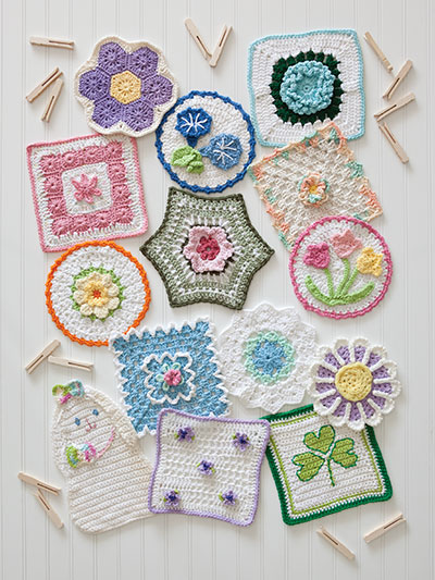 A Year of Dishcloths crochet a variety of dishcloth patterns