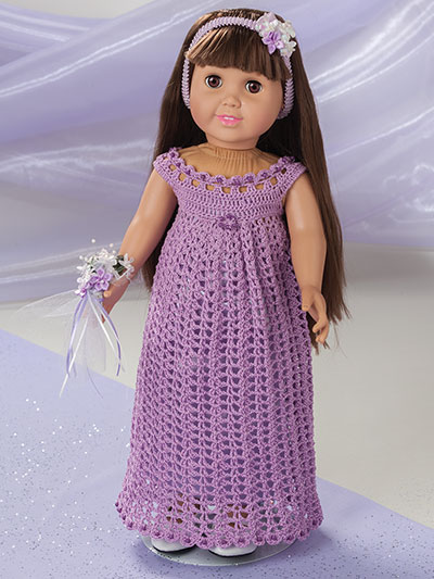 Special Occasion Fashions For 18 Inch Dolls Crochet Pattern Book