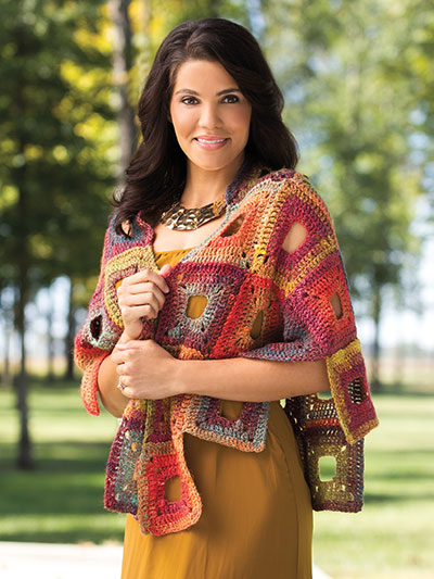 Crochet! Spring 2016 crochet a patchwork shawl pattern