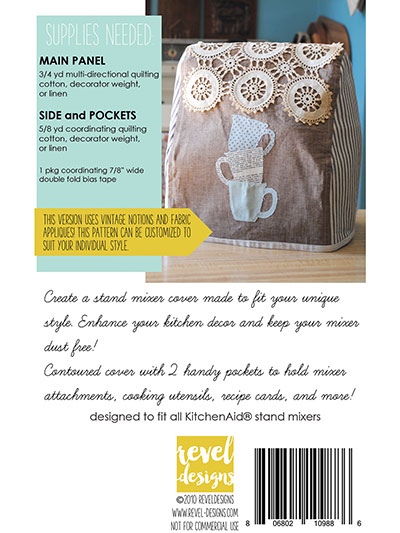 Stand Mixer Cover Sewing Pattern