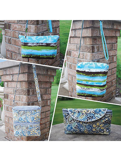 The Convertible Reversible Bag Pattern sewing pattern for 4 bags in one