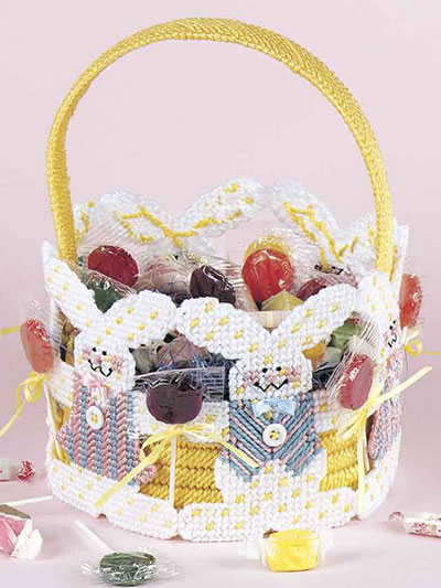 It's just a picture of Free Printable Easter Basket Plastic Canvas Patterns with regard to ornaments