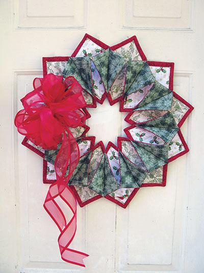 Fold'n Stitch Wreath Pattern Simple Fold And Stitch Wreath Pattern