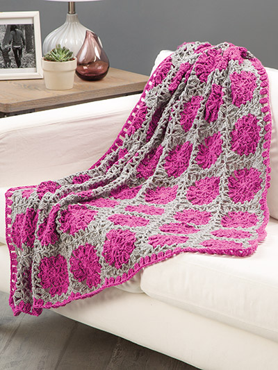 Summer floral afghan to crochet pattenr
