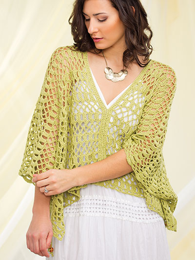 Crochet a light weight summer cover up pattern