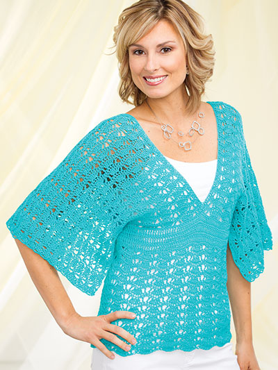 Crochet a summer top in summer yarn colors