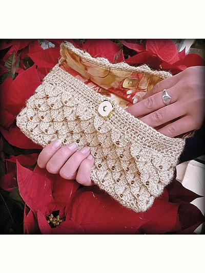Crochet Handbag Patterns Crocodile Clutch Crochet Pattern
