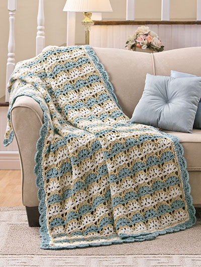 Annie's All-Season Throws to Crochet is divided into seven themed chapters based on different afghan styles, making it easy to find just the type of designs you're looking for. They include Modern Granny, Amazing Motifs, Sophisticated Stripes, Just One Color, Rich Textures, Rustic Retreat and Block Party.