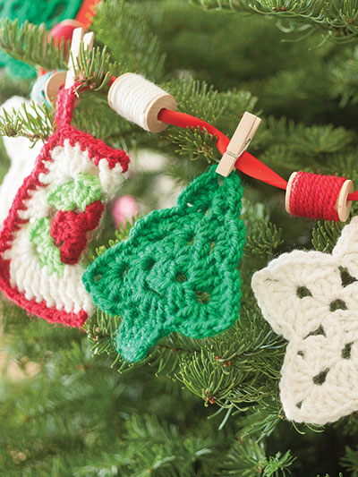 Crochet Christmas Ornaments Crochet Garland