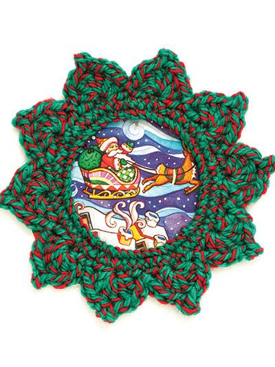 Crochet a frame for Christmas